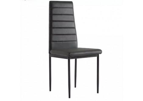 Chaise de salle à manger LUXOR pvc noir
