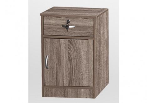 Chevet 1 porte/1 tiroir CHERRY chêne sonoma