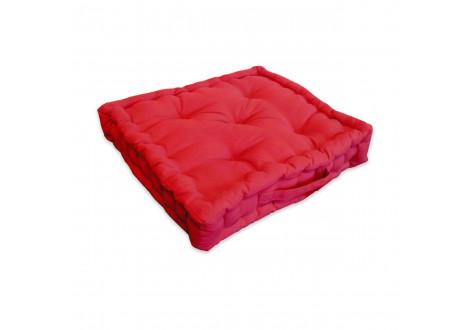 Coussin de sol COSY rouge 40x40 cm