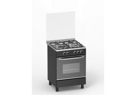 Cuisinière 60x60 4 feux gaz MAGIC POINT GM60 noir