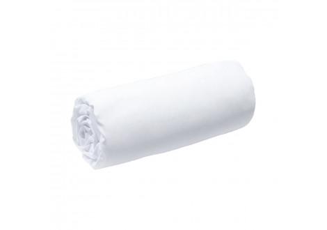 Drap housse 160x200 blanc 100% coton BIO