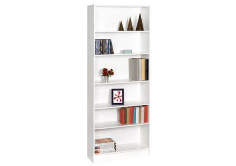 Bibliothèque 5 étagères DICO blanc