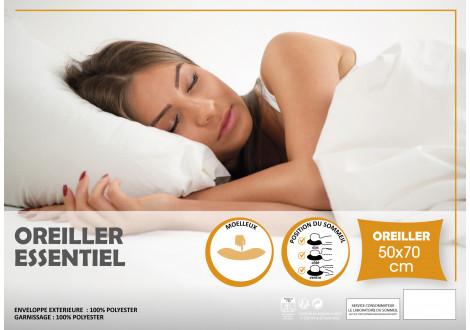 Oreiller CONFORT BASE 50x70 blanc