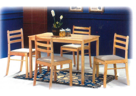 ENSEMBLE STARTER TABLE ET 4 CHAISEHEVEA MASSIF NATUREL