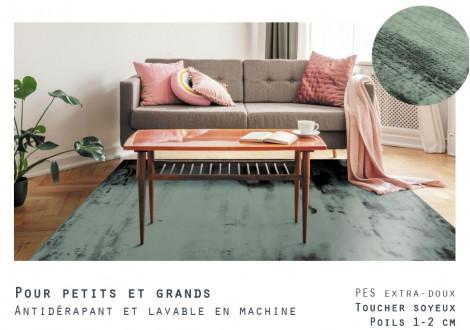 Tapis Flanelle Vert 160x230