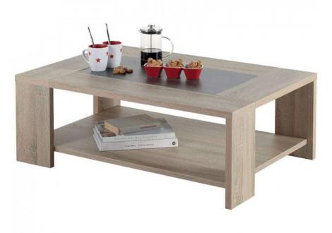 Table basse Fumay décor chêne béton