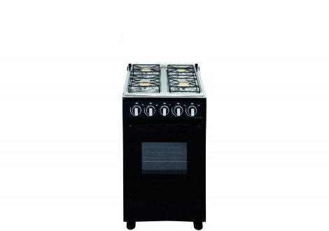 Cuisinière MAGIC POINT 4 Feux gaz - 55 x 50 cm GM45 noir