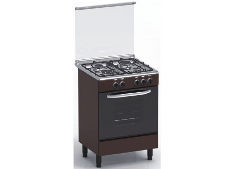 Cuisinière 4 feux gaz 60x60 MAGIC POINT GM60 marron