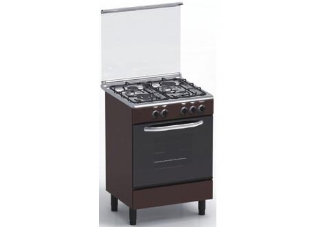 Cuisinière 4 feux gaz 60x60 MAGIC POINT GM60 marron