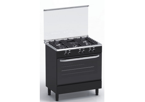 Cuisinière 5 feux gaz 80x55 MAGIC POINT GN85 Noir