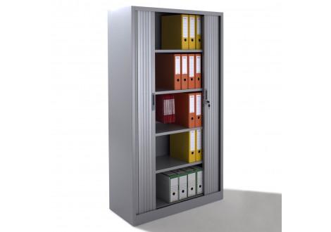 Armoire métal à rideaux L120 H198 cm coloris gris