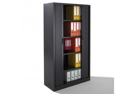Armoire métal à rideaux L120 H198 cm coloris noir