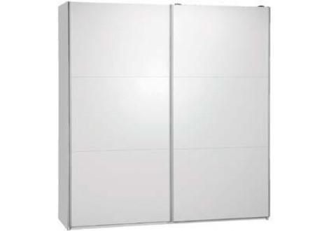 Armoire 180 MALAGA 2 portes coulissantes blanc mat