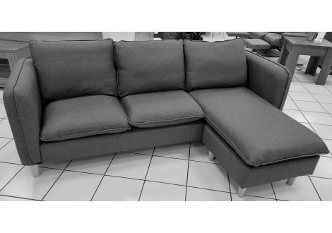 Canapé JULES avec méridienne gris