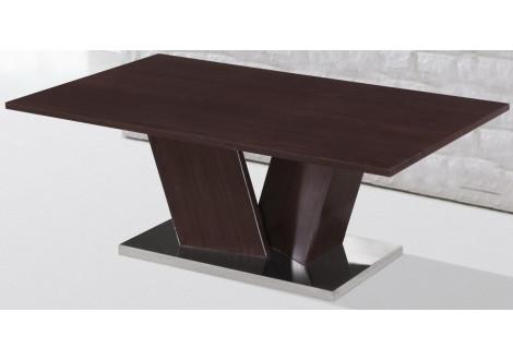 Table basse SHARP Wenge et pied chromé