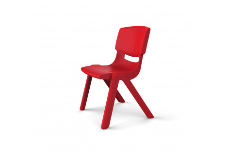 Chaise LUCIEN Taille 1 rouge