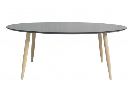 Table basse ovale MANON noir