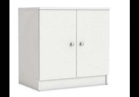 Meuble sous-lavabo 2 portes AQUA blanc