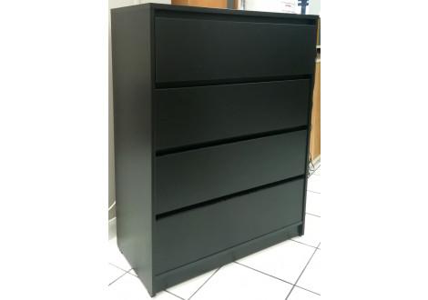 Commode MILORD 4 tiroirs Noir
