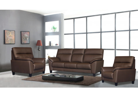 Salon 3 pièces NAGOYA coco 1 canapé 3 places + 2 fauteuils 1 place