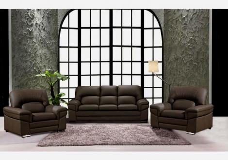 Salon 3 pièces NAIA coco : 1 canapé 3 places + 2 fauteuils 1 place