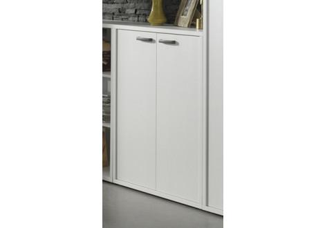 Armoire basse PRONTO 2 portes blanc
