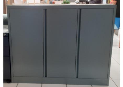 Rangement métal extérieur 3 portes coulissantes coloris Kaki