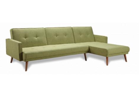 Canapé d'angle convertible CALIFORNIA vert