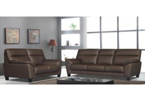 Salon 3 pièces SAPPORO gris 1 canapé 3 places + 2 fauteuils 1 place