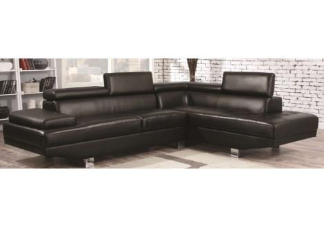 Canapé d'angle  SARA PU noir