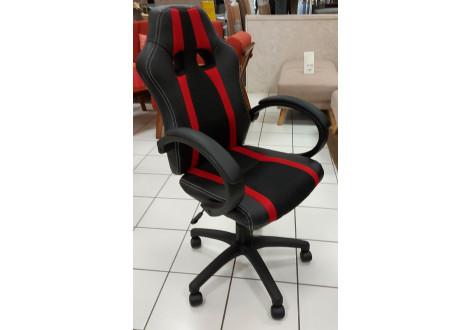 Chaise de bureau SPEED 3 rouge et noir