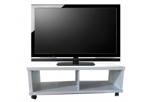 Meuble TV SPOT sur roulettes blanc