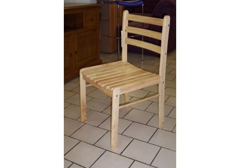 chaise STARTER hévéa massif vernis naturel