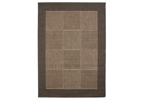 Tapis Suva  noir/marron 133x190