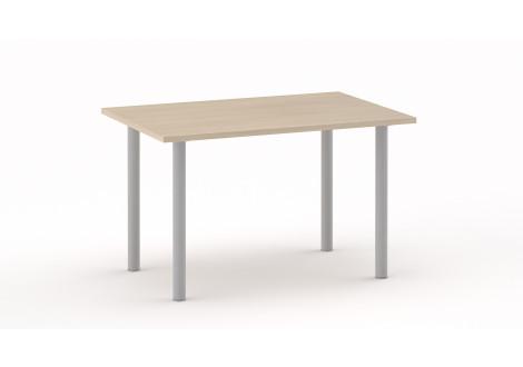 Table de décharge 120x80cm hêtre clair - piètement argenté