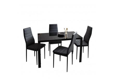 Table de salle à manger LUXOR noir