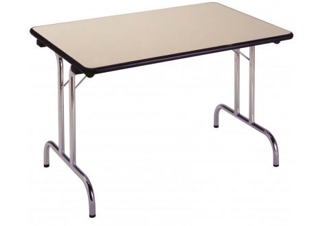 Table pliante ZENITH plateau hêtre/piètement epoxy alu 120x80cm