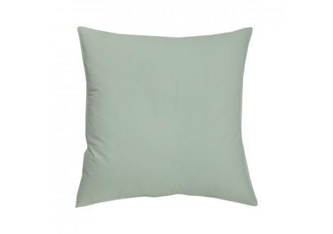 TAIE OREILLER 63x63cm COTON BIO - coloris vert amande