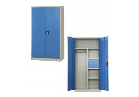Vest. 2 portes largeur 60 cm métal multi-fonctions gris clair VD-2M
