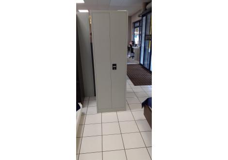 Vest. 2 portes largeur 60 cm métal multi-fonctions gris foncé VD-2M