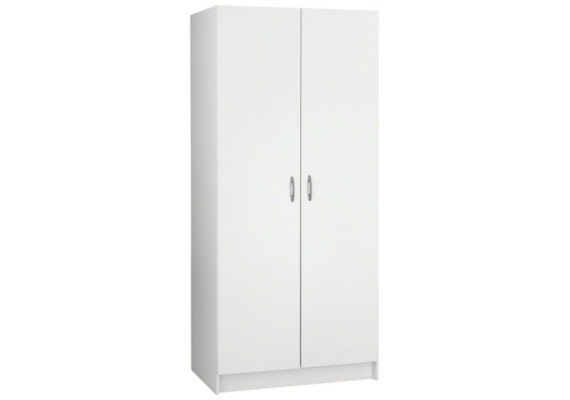 armoire penderie blanche 2 portes armoires chambre. Black Bedroom Furniture Sets. Home Design Ideas
