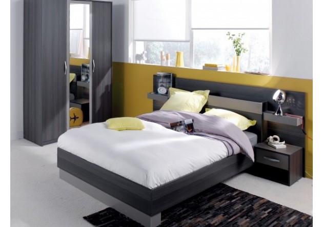 environnement de lit graphic weng 140 x 190 cm. Black Bedroom Furniture Sets. Home Design Ideas