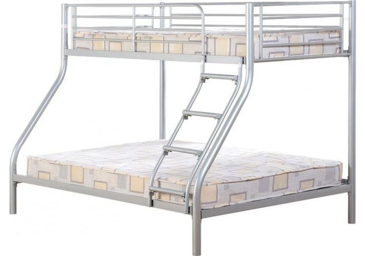 lits superpos s 90 140x190 optimo m tal argent. Black Bedroom Furniture Sets. Home Design Ideas