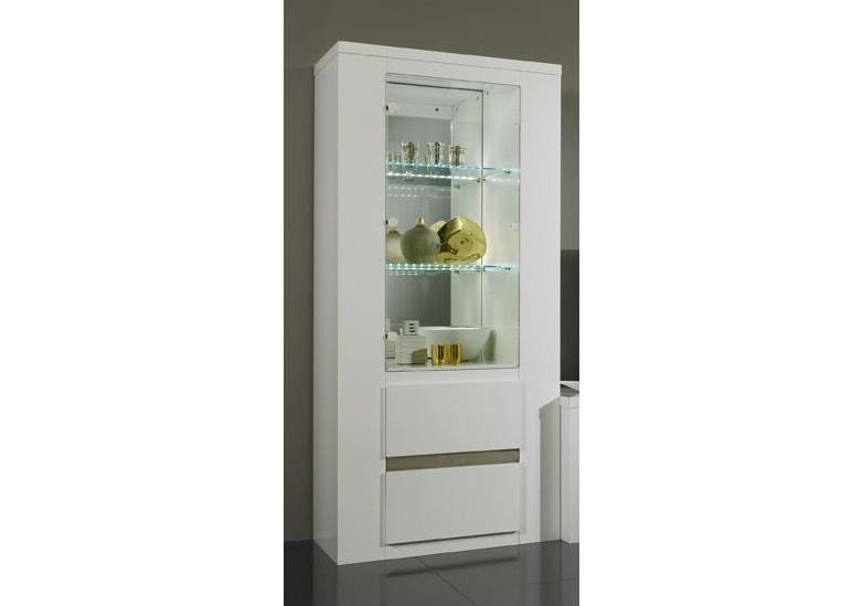 Tania colonne laque blanc living vaisseliers et - Colonne blanc laque ...