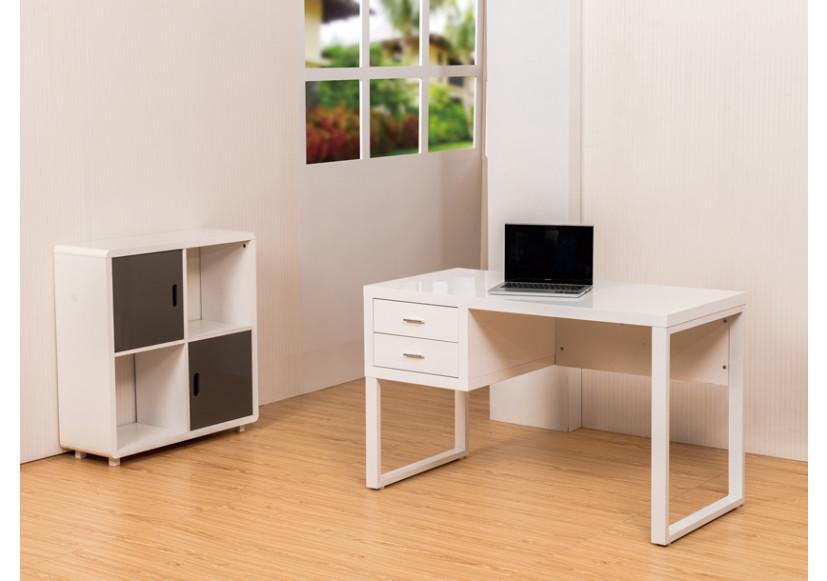 Bureau pulp 2 tiroirs blanc