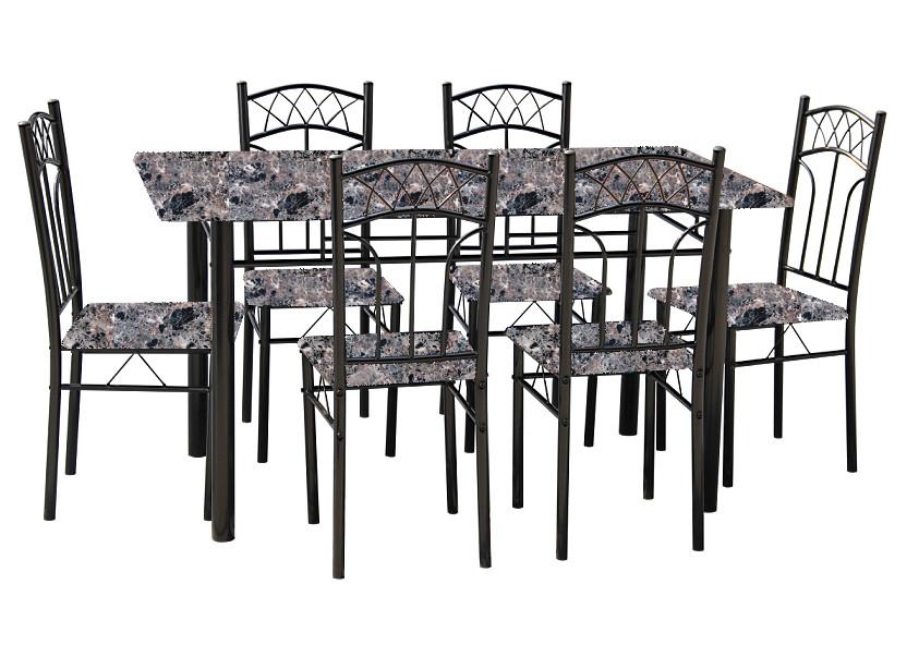 Ensemble table et 6 chaises marbre ensemble tables et - Ensemble table chaises cuisine ...