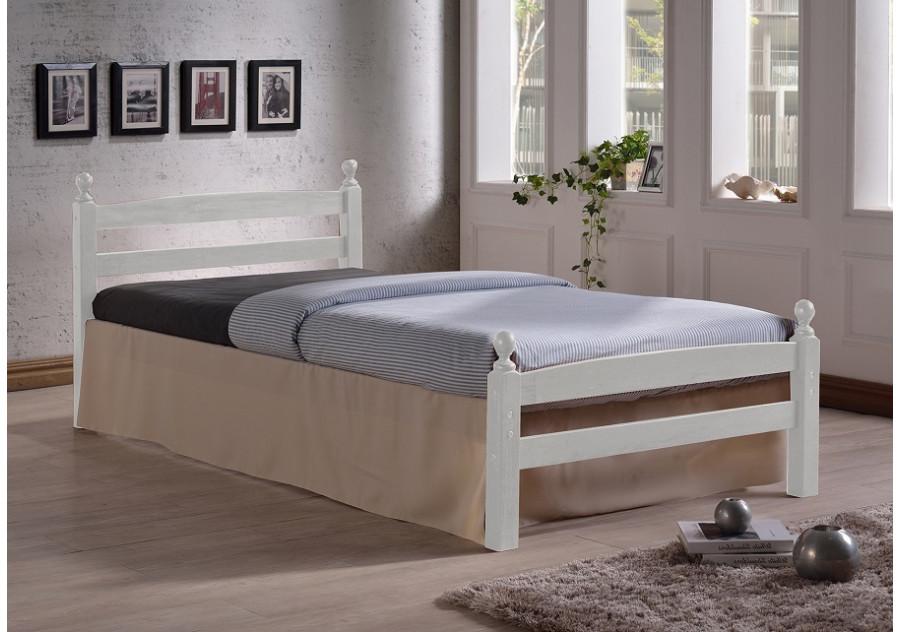 Lit 90x190 Megara Bois Blanc Lits 1 Place Chambre