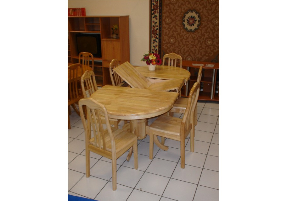 table ovale rallonge 6 chaises flora. Black Bedroom Furniture Sets. Home Design Ideas