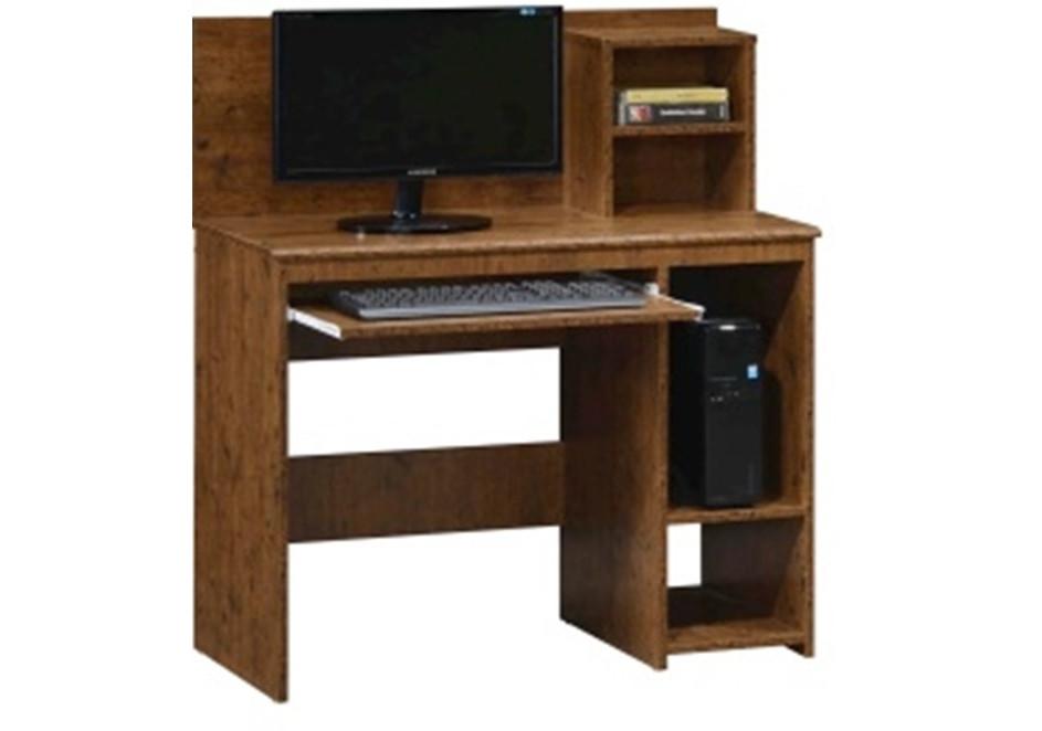 Bureau informatique plano avec sur meuble décor wenge