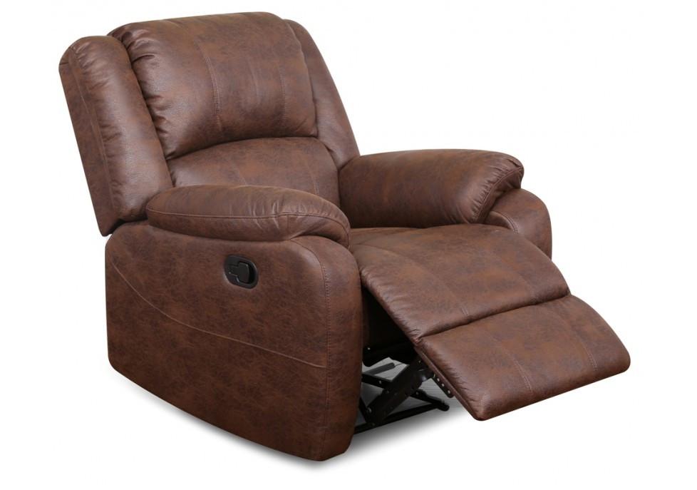 fauteuil relax houston pu chocolat canap s et fauteuils salon. Black Bedroom Furniture Sets. Home Design Ideas